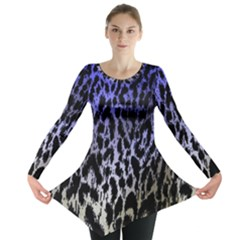 Fabric Animal Motifs Long Sleeve Tunic
