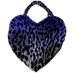 Fabric Animal Motifs Giant Heart Shaped Tote