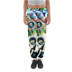 Dark Abstract Bubbles Women s Jogger Sweatpants