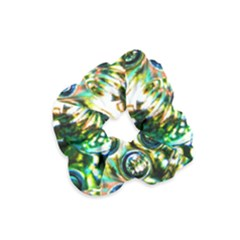 Dark Abstract Bubbles Velvet Scrunchie