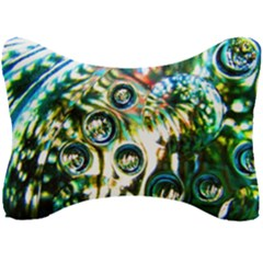 Dark Abstract Bubbles Seat Head Rest Cushion by Jojostore