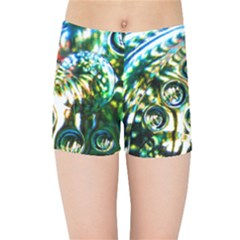 Dark Abstract Bubbles Kids Sports Shorts by Jojostore