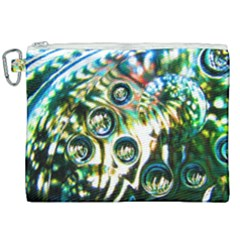 Dark Abstract Bubbles Canvas Cosmetic Bag (xxl) by Jojostore