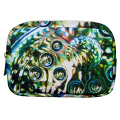 Dark Abstract Bubbles Make Up Pouch (small)