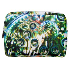 Dark Abstract Bubbles Make Up Pouch (medium) by Jojostore