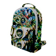 Dark Abstract Bubbles Flap Pocket Backpack (large) by Jojostore