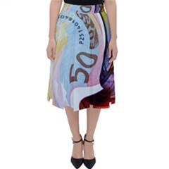 Abstract Currency Background Classic Midi Skirt