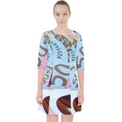 Abstract Currency Background Pocket Dress