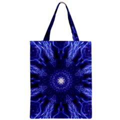 Tech Neon And Glow Backgrounds Psychedelic Art Zipper Classic Tote Bag by Jojostore