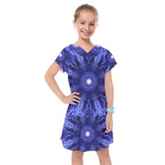 Tech Neon And Glow Backgrounds Psychedelic Art Kids  Drop Waist Dress