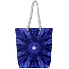 Tech Neon And Glow Backgrounds Psychedelic Art Full Print Rope Handle Tote (small) by Jojostore