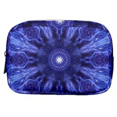 Tech Neon And Glow Backgrounds Psychedelic Art Make Up Pouch (small)
