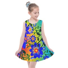 Abstract Background Backdrop Design Kids  Summer Dress