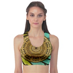 Kaleidoscope Dream Illusion Sports Bra by Jojostore