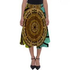 Kaleidoscope Dream Illusion Perfect Length Midi Skirt