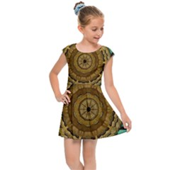 Kaleidoscope Dream Illusion Kids Cap Sleeve Dress
