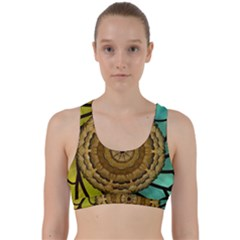 Kaleidoscope Dream Illusion Back Weave Sports Bra