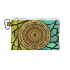 Kaleidoscope Dream Illusion Canvas Cosmetic Bag (medium) by Jojostore
