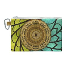 Kaleidoscope Dream Illusion Canvas Cosmetic Bag (large)