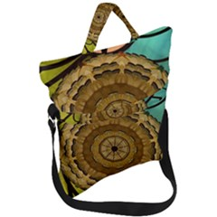 Kaleidoscope Dream Illusion Fold Over Handle Tote Bag by Jojostore