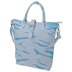 Blue Tiger Animal Pattern Digital Buckle Top Tote Bag