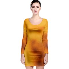 Blurred Glass Effect Long Sleeve Bodycon Dress