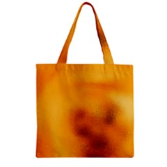 Blurred Glass Effect Zipper Grocery Tote Bag by Jojostore