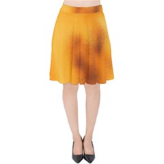 Blurred Glass Effect Velvet High Waist Skirt