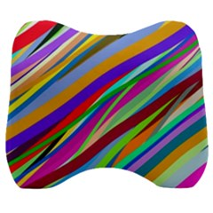 Multi Color Tangled Ribbons Background Wallpaper Velour Head Support Cushion