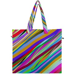 Multi Color Tangled Ribbons Background Wallpaper Canvas Travel Bag