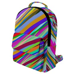 Multi Color Tangled Ribbons Background Wallpaper Flap Pocket Backpack (small) by Jojostore
