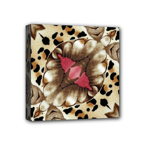 Animal Tissue And Flowers Mini Canvas 4  X 4  (stretched) by Jojostore