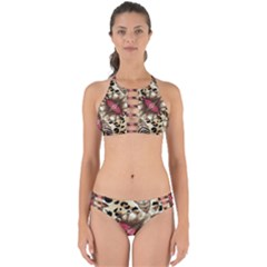 Animal Tissue And Flowers Perfectly Cut Out Bikini Set by Jojostore