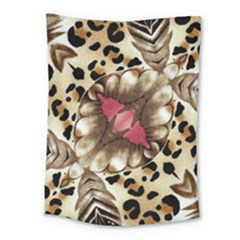 Animal Tissue And Flowers Medium Tapestry