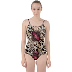 Animal Tissue And Flowers Cut Out Top Tankini Set by Jojostore