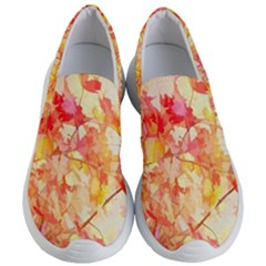 Monotype Art Pattern Leaves Colored Autumn Women s Lightweight Slip Ons