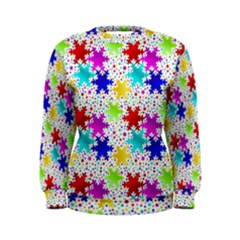 Snowflake Pattern Repeated Women s Sweatshirt