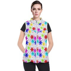 Snowflake Pattern Repeated Women s Puffer Vest