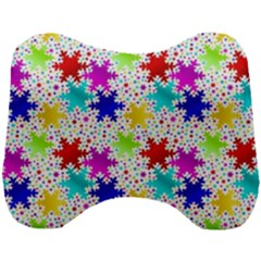 Snowflake Pattern Repeated Head Support Cushion