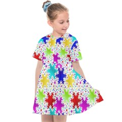 Snowflake Pattern Repeated Kids  Sailor Dress