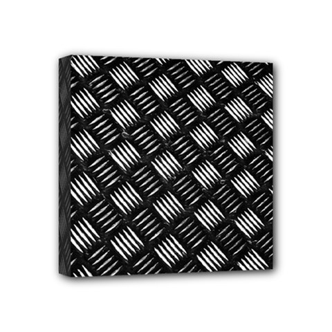 Abstract Of Metal Plate With Lines Mini Canvas 4  X 4  (stretched) by Jojostore