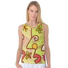 Abstract Faces Abstract Spiral Women s Basketball Tank Top