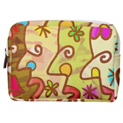 Abstract Faces Abstract Spiral Make Up Pouch (medium) by Jojostore