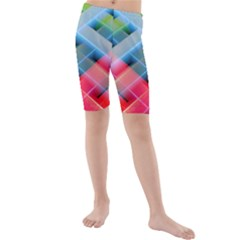 Graphics Colorful Colors Wallpaper Graphic Design Kids  Mid Length Swim Shorts