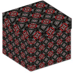 Abstract Black And Red Pattern Storage Stool 12   by Jojostore