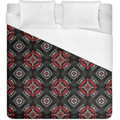 Abstract Black And Red Pattern Duvet Cover (king Size) by Jojostore