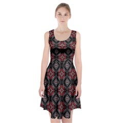 Abstract Black And Red Pattern Racerback Midi Dress by Jojostore