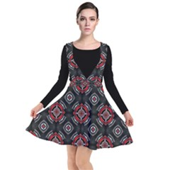 Abstract Black And Red Pattern Other Dresses