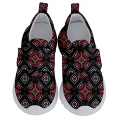 Abstract Black And Red Pattern Velcro Strap Shoes by Jojostore