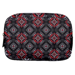 Abstract Black And Red Pattern Make Up Pouch (small) by Jojostore